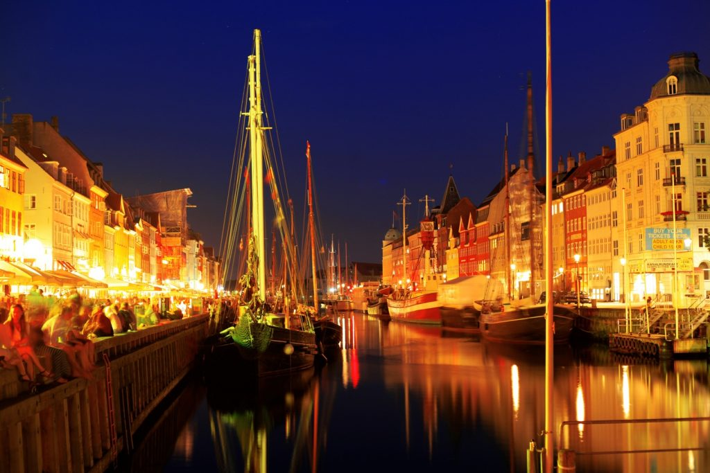Denmark in night
